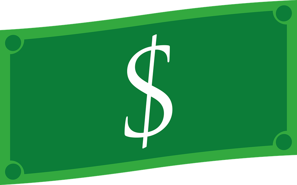 kreslený dolar